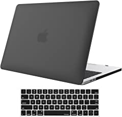 Aavjo Matte Hard front back case cover for Apple MacBook Pro 13 W/Wo touch Bar - Black