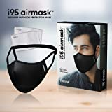 i95 airmask Premium Cotton Cloth Face Mask | Black | Two 5 layer Replaceable Activated Carbon Filter | Reusable…