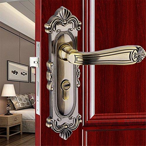 GaoHX LOCK~ European-style Innentürschlösser Schlafzimmer Türgriff Schlösser