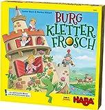 Haba 303631 - Burg Kletterfrosch | Spannendes Memo- und Geschicklichkeitsspiel mit 3D-Aufbau und Kletterfrosch zum Ziehen aus Holz | Spiel ab 5 Jahren