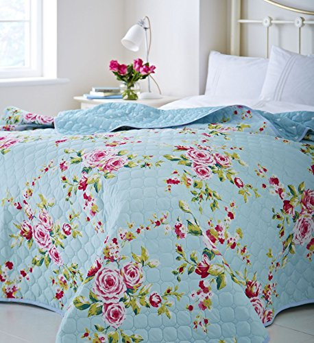 Catherine Lansfield Canterbury Easy Care Bedspread Multi, 240x260cm