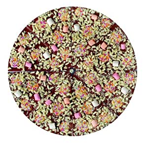 "Valentino's Chocolate Pizza 10"" Milk Chocolate Pizza with Marshmallows, White Chocolate Flakes and Jazzies 550g"
