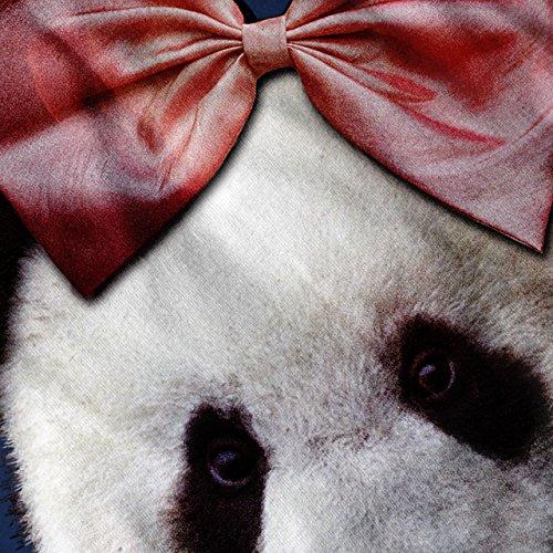 Panda Band Niedlich Komisch Pfiffigkeit Damen Schwarz S-2XL Muskelshirt | Wellcoda Marine