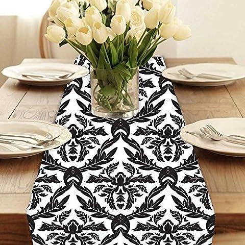 Snoogg Weihnachten Blätter modern digital Muster Tischläufer Poly Baumwolle Leinwand gedruckt Stoff Tisch Top Dekoration Home Decor 27,9x (Beste Tv-preise Nach Weihnachten)