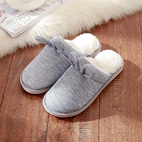 DogHaccd pantofole,Il bel paio di pantofole di cotone femmina indoor inverno soggiorno caldo spesso uomini home scarpe eleganti Il blu2