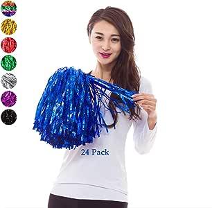 4 St/ücke Gro/ß Cheerleading Pompons Rot + Silber 14 /'/' Hatsian Cheerleading Pom Pom Cheerleader Pompons Zum Sport Prost Ball Tanz Verr/ücktes Kleid Nacht Party