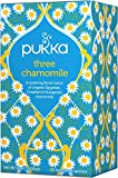 Pukka Three Chamomile, Organic Herbal Tea (4 Pack, 80 Tea bags)