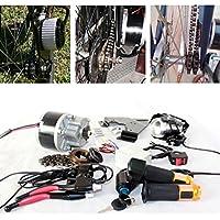 250w spazzola elettrica motore per bicicletta elettrica acceleratore con chiave interruttore e batteria di voltaggio semplice motore kit per il bricolage e-bike