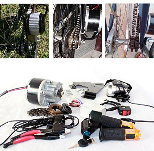 250w spazzola elettrica motore per bicicletta elettrica acceleratore con chiave interruttore e batteria di voltaggio semplice motore kit per il bricolage e-bik