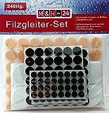 248-teilig Filzgleiter-Möbelgleiter-Stuhlgleiter-Bodengleiter-Bodenschutz-Kratzschutz-selbstklebend Set-Sortiment rund filz