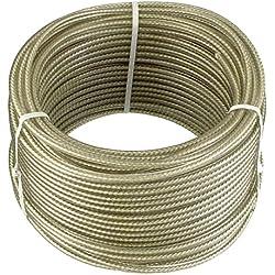 Connex DY2701391 Câble multi-usage en Acier/moulé en Plastique avec noyau textile 30 m x 4 mm