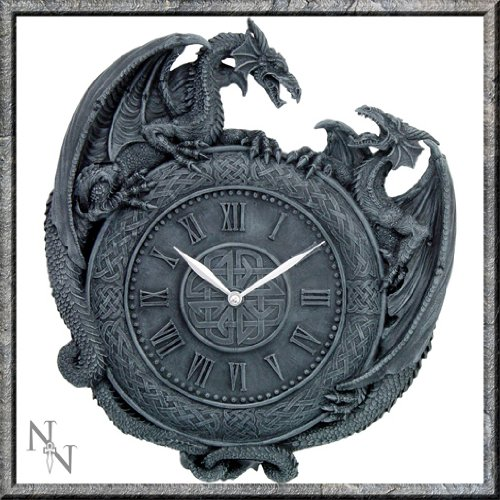 Dragon Duel Orologio da parete diametro 28 cm, by nemesis now