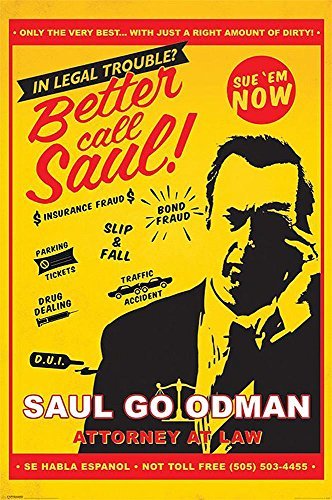 Better call Saul Poster Attorney at Law (61cm x 91,5cm) + Ü-Poster (Poster Call Saul Better)