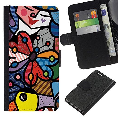 Graphic4You Niedlich Plastic Stars Design Brieftasche Leder Hülle Case Schutzhülle für Apple iPhone 5C Design #4