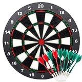Limiwulw Sicherheits Dartscheibe für Kinder - 16inch Rubber Dart Board Set mit 9 Soft Tip Safety Darts Tolles Spiel für Kinder Erwachsene Freizeit Sport für Büro und Familie Zeit
