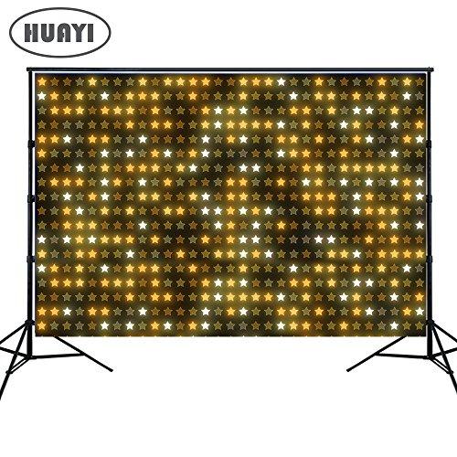 HUAYI-Foto-Hintergrund Neugeborene Fotografie Requisiten Baby Dusche, Geburtstag photocall Photo Booth Requisiten Party-Banner, Dekoration, Gold Glanz mit Pink Girl Hintergrund, 150x 150cm xt-5204 (Und Gold Dusche Baby Pink)