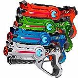 4x pistole Light Battle Active, colore: blu, bianco, verde, arancio - LBAP1041234 immagine