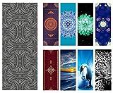Heathyoga, Yoga-Handtuch, rutschfest, geniales Ecktaschen-Design, aus 100% Mikrofaser für Hot Yoga, Bikram und Pilates