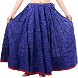 Jaipuri Beautiful Casual Royal Blue Prin...