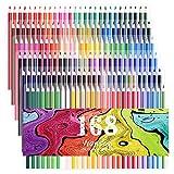 168 matite colorate set a 5 vassoi di matite colorate pre-temperate dai colori vivaci per adulti artisti e bambini da Wanshui per album a disegni, per disegnare per creare bozzetti