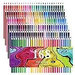 168 Crayons de couleur - 168 comptez Couleurs vives (pas de Doublons) vives crayons de couleur pré-tailles set complet pour illustrateur dessinateur ou étudiants des beaux-arts
