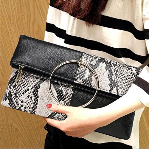 Home Monopoly Borsa femmina pieghevole frizione borsa femminile Borsa messaggero di moda / con cinghia tracolla, cinturino da polso ( Colore : #a ) #d