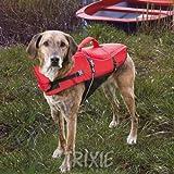 Trixie 30141 Schwimmweste für Hunde, XS: 26 cm/max. 12 kg, rot / schwarz
