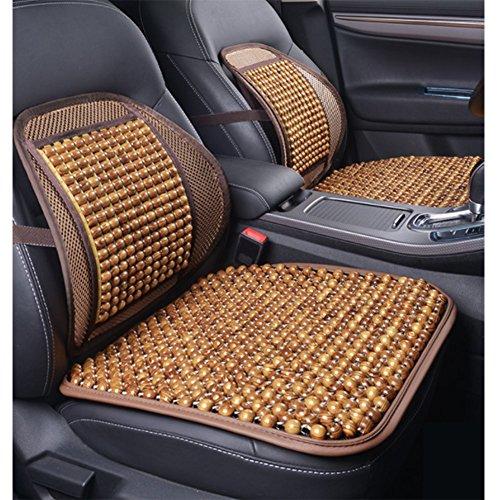 YZ-YUAN Auto Sitzkissen,Atmungs Design Autositz, Polsterabdeckung Auto Zubehör Bürostuhl (1 Stücke Kissen, 1 Stücke Lendenstütze),Beige