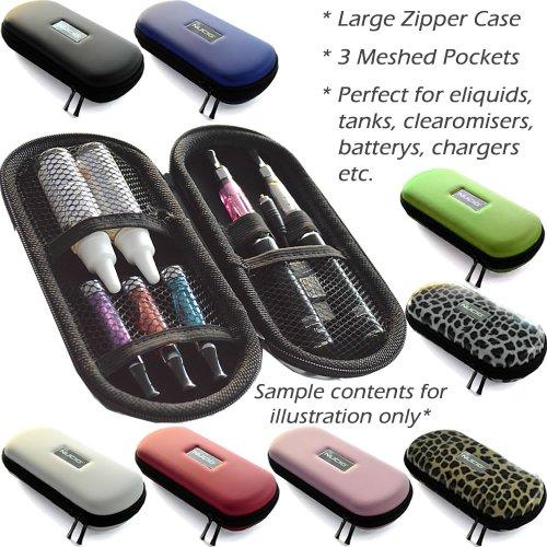 Grande custodia con zip per EGO CASE | Custodia | ehookah | eliquid Ecigarette | e liquido per sigarette elettroniche | sigaretta elettrica | e tabacco, senza nicotina, Free Red