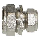 Kupferrohr Klemm Kupplung reduziert 28 x 22 mm