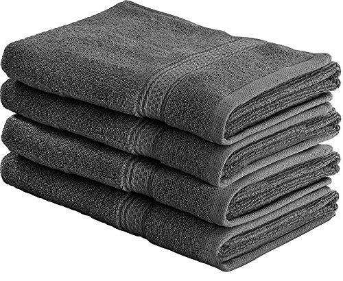 Set di Asciugamani Mani (4 Pezzi, 41x 71 cm) - 100% Cotone - Perfezionare per Hotel & Spa - Massima morbidezza e assorbenza da parte di Utopia Towels (grigio)