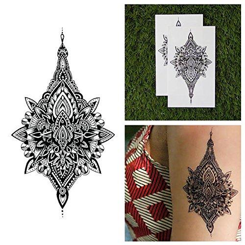 Tattify Tatouages Temporaires Mandala D_taill_ - Gouttelette (Set de 2)