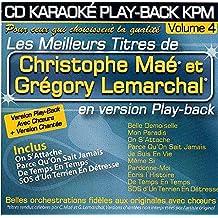 """CD KARAOKE PLAY-BACK KPM VOL.04 """"Christophe Maé et Grégory Lemarchal"""""""