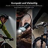 Fahrradbeleuchtung TaoTronics LED Fahrradlicht usb Fahrradlampe Set Frontlicht & Rücklicht (Starkes / Schwaches Licht / Blinkmodus, IP65 Wasserdicht, USB Wiederaufladbar) -