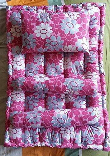 Jeysree Fashions Kapok Silk Cotton-Ilavam Panju Baby Mattress (Kids Mattress) Set With Pillow & 2 Bolsters