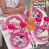 Vajilla Infantil Minnie Mouse (16 piezas)