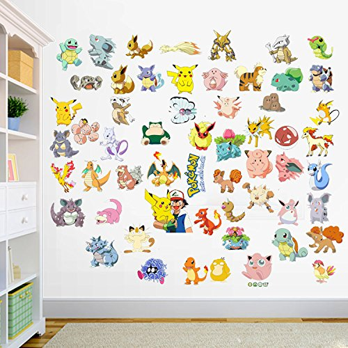 2016-pokemon-popular-pikachu-and-ash-decal-removable-wall-sticker-6090cm-home-decor-art-kids-childre