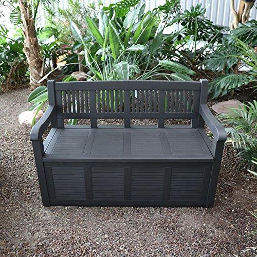 2- Sitzer Gartenbank mit Aufbewahrungsbox Truhe Kissen Auflagen Garten Terrasse - 5