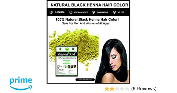 Buy Shagun Gold Natural Black Henna Powder 400g Without Chemical