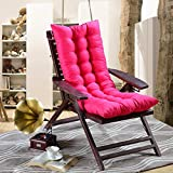Invierno asiento cojín respaldo alto 48* 120cm reclinable silla/mecedora cojín, suave calor...