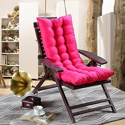 Winter Sitzkissen Hohe Rückenlehne 48* 120cm Liegestuhl/Schaukelstuhl Kissen, weich Wärme atmungsaktiv saugfähig Recamiere für...