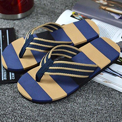Bonjouree Tongs Homme Sandales Chaussons Ete Bleu
