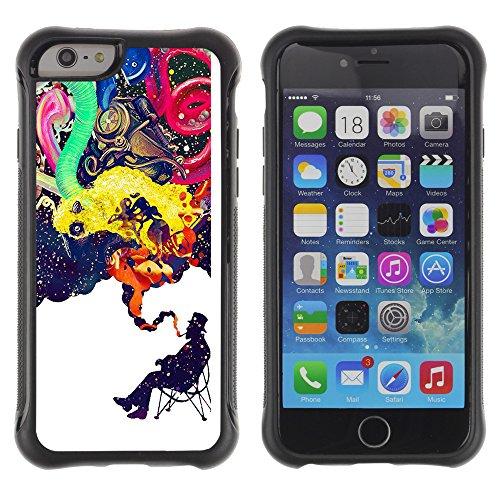 Graphic4You Artist Portrait Design Shockproof Anti-Rutsch Weichen Hülle Case Tasche Schutzhülle für Apple iPhone 6 Plus / 6S Plus Design #12