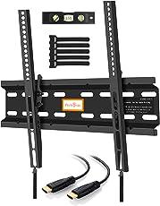 Perlegear TV Halterung Neigbar,für 23-55 Zoll (58-140cm) Flach&Curved Fernseher Oder Monitor bis zu 45kg, Max.VESA 400x400mm