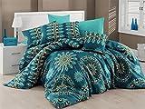 Bettwäsche Set Bettwäsche Double Psychedelic Ombre Lotus Baumwollmischung Quilt Bettbezug