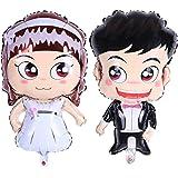 YeahiBaby Palloncini in Alluminio da Sposa e Sposi per Decorazione Matrimonio Large Size 2pcs