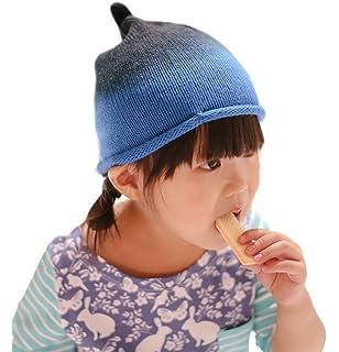 fcc0edfd309 Bigood Bonnet Tricot Bébé Enfant Chapeau Souple Imprimé Automne Hiver