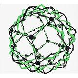Hoberman Mini Sphere Neon Green And Black Expandable Ball