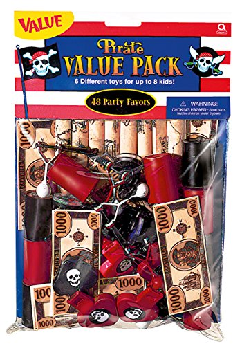 (1 Set Piraten Party Zubehör 48 Teile 6 verschiedene Aartikel)