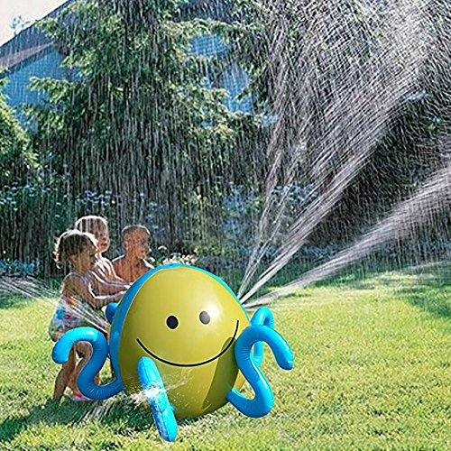 Wassersprinkler Aufblasbare Sprinkler Ball Kinder Splash und Spray Ball Nette Octopus Form Outdoor Fun Spielen Wasserball für Garten Hinterhof Beach Party Schwimmbad